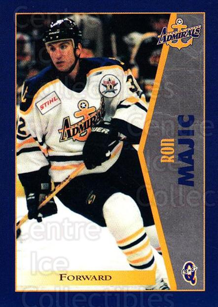 1997-98 Hampton Roads Admirals #13 Ron Majic<br/>1 In Stock - $3.00 each - <a href=https://centericecollectibles.foxycart.com/cart?name=1997-98%20Hampton%20Roads%20Admirals%20%2313%20Ron%20Majic...&quantity_max=1&price=$3.00&code=670994 class=foxycart> Buy it now! </a>