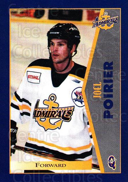1997-98 Hampton Roads Admirals #16 Joel Poirier<br/>1 In Stock - $3.00 each - <a href=https://centericecollectibles.foxycart.com/cart?name=1997-98%20Hampton%20Roads%20Admirals%20%2316%20Joel%20Poirier...&quantity_max=1&price=$3.00&code=670997 class=foxycart> Buy it now! </a>