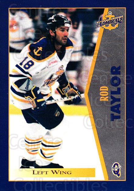 1997-98 Hampton Roads Admirals #19 Rod Taylor<br/>1 In Stock - $3.00 each - <a href=https://centericecollectibles.foxycart.com/cart?name=1997-98%20Hampton%20Roads%20Admirals%20%2319%20Rod%20Taylor...&quantity_max=1&price=$3.00&code=671000 class=foxycart> Buy it now! </a>