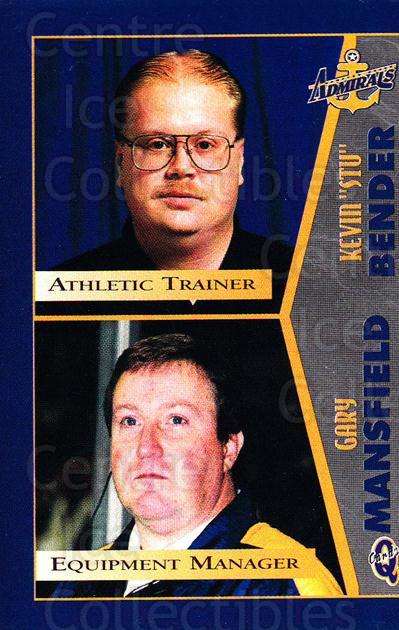 1997-98 Hampton Roads Admirals #24 Gary Mansfield, Stu Bender<br/>1 In Stock - $3.00 each - <a href=https://centericecollectibles.foxycart.com/cart?name=1997-98%20Hampton%20Roads%20Admirals%20%2324%20Gary%20Mansfield,...&quantity_max=1&price=$3.00&code=671005 class=foxycart> Buy it now! </a>