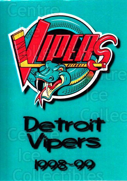 1998-99 Detroit Vipers #26 Checklist<br/>1 In Stock - $3.00 each - <a href=https://centericecollectibles.foxycart.com/cart?name=1998-99%20Detroit%20Vipers%20%2326%20Checklist...&quantity_max=1&price=$3.00&code=671057 class=foxycart> Buy it now! </a>
