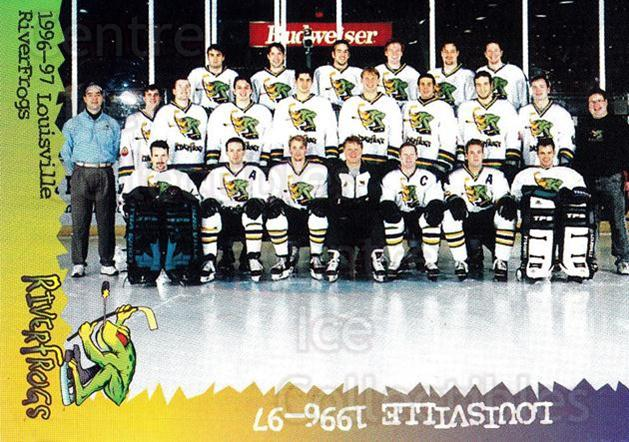 1996-97 Louisville Riverfrogs #30 Team Photo<br/>1 In Stock - $2.00 each - <a href=https://centericecollectibles.foxycart.com/cart?name=1996-97%20Louisville%20Riverfrogs%20%2330%20Team%20Photo...&price=$2.00&code=671088 class=foxycart> Buy it now! </a>