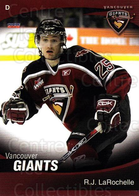 2007-08 Vancouver Giants #12 RJ LaRochelle<br/>1 In Stock - $3.00 each - <a href=https://centericecollectibles.foxycart.com/cart?name=2007-08%20Vancouver%20Giants%20%2312%20RJ%20LaRochelle...&quantity_max=1&price=$3.00&code=671346 class=foxycart> Buy it now! </a>