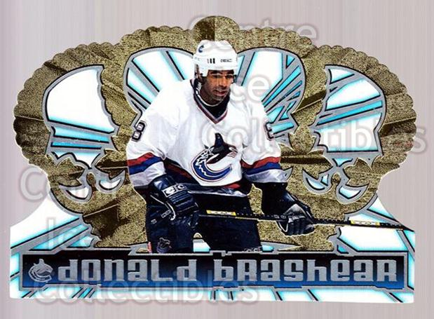 1998-99 Crown Royale #133 Donald Brashear<br/>6 In Stock - $1.00 each - <a href=https://centericecollectibles.foxycart.com/cart?name=1998-99%20Crown%20Royale%20%23133%20Donald%20Brashear...&quantity_max=6&price=$1.00&code=67134 class=foxycart> Buy it now! </a>