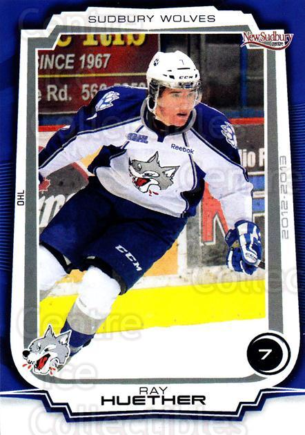 2012-13 Sudbury Wolves #23 Ray Huether<br/>2 In Stock - $3.00 each - <a href=https://centericecollectibles.foxycart.com/cart?name=2012-13%20Sudbury%20Wolves%20%2323%20Ray%20Huether...&quantity_max=2&price=$3.00&code=671397 class=foxycart> Buy it now! </a>