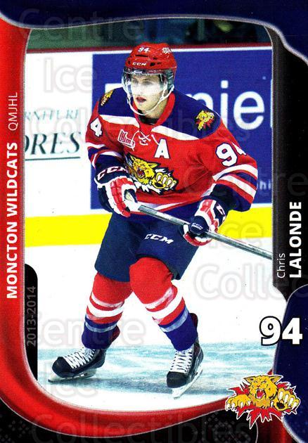 2013-14 Moncton Wildcats #1 Christophe Lalonde<br/>1 In Stock - $3.00 each - <a href=https://centericecollectibles.foxycart.com/cart?name=2013-14%20Moncton%20Wildcats%20%231%20Christophe%20Lalo...&price=$3.00&code=671423 class=foxycart> Buy it now! </a>