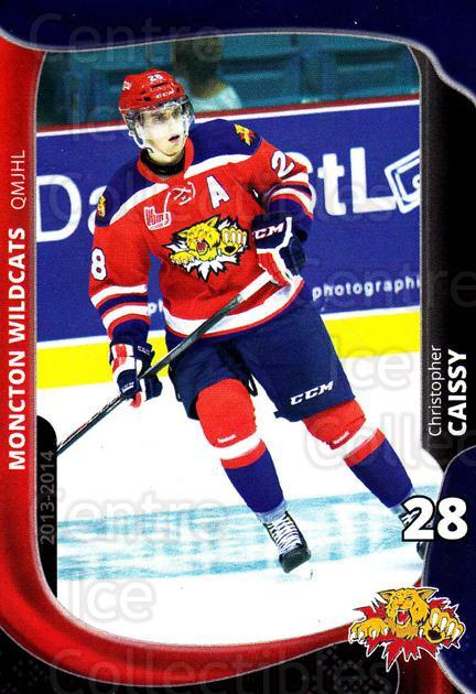 2013-14 Moncton Wildcats #6 Christopher Caissy<br/>1 In Stock - $3.00 each - <a href=https://centericecollectibles.foxycart.com/cart?name=2013-14%20Moncton%20Wildcats%20%236%20Christopher%20Cai...&price=$3.00&code=671428 class=foxycart> Buy it now! </a>