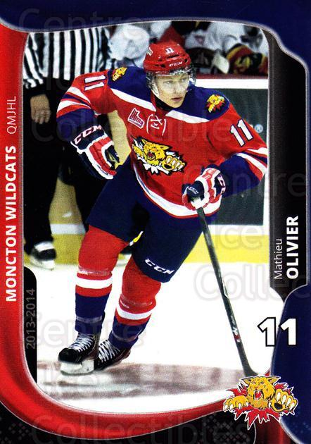 2013-14 Moncton Wildcats #15 Mathieu Olivier<br/>1 In Stock - $3.00 each - <a href=https://centericecollectibles.foxycart.com/cart?name=2013-14%20Moncton%20Wildcats%20%2315%20Mathieu%20Olivier...&price=$3.00&code=671437 class=foxycart> Buy it now! </a>