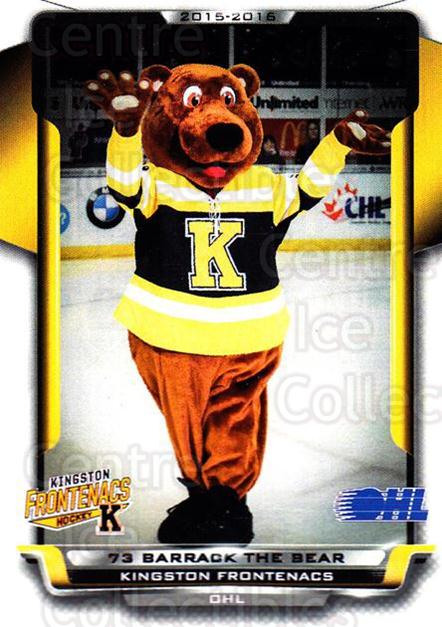 2015-16 Kingston Frontenacs #1 Mascot<br/>1 In Stock - $3.00 each - <a href=https://centericecollectibles.foxycart.com/cart?name=2015-16%20Kingston%20Frontenacs%20%231%20Mascot...&price=$3.00&code=671447 class=foxycart> Buy it now! </a>
