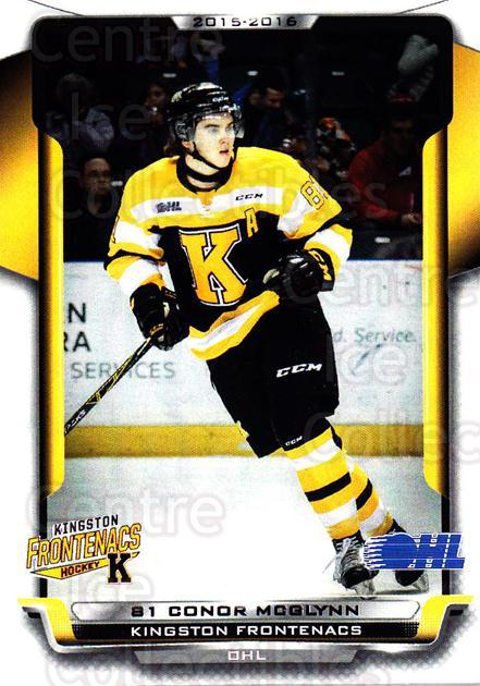 2015-16 Kingston Frontenacs #3 Connor McGlynn<br/>1 In Stock - $3.00 each - <a href=https://centericecollectibles.foxycart.com/cart?name=2015-16%20Kingston%20Frontenacs%20%233%20Connor%20McGlynn...&price=$3.00&code=671450 class=foxycart> Buy it now! </a>