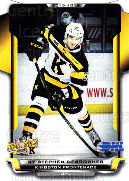 2015-16 Kingston Frontenacs #9 Stephen Desrocher<br/>1 In Stock - $3.00 each - <a href=https://centericecollectibles.foxycart.com/cart?name=2015-16%20Kingston%20Frontenacs%20%239%20Stephen%20Desroch...&price=$3.00&code=671456 class=foxycart> Buy it now! </a>