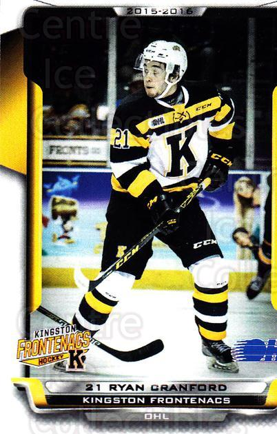2015-16 Kingston Frontenacs #13 Ryan Cranford<br/>1 In Stock - $3.00 each - <a href=https://centericecollectibles.foxycart.com/cart?name=2015-16%20Kingston%20Frontenacs%20%2313%20Ryan%20Cranford...&price=$3.00&code=671460 class=foxycart> Buy it now! </a>
