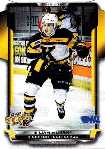 2015-16 Kingston Frontenacs #23 Liam Murray<br/>1 In Stock - $3.00 each - <a href=https://centericecollectibles.foxycart.com/cart?name=2015-16%20Kingston%20Frontenacs%20%2323%20Liam%20Murray...&price=$3.00&code=671470 class=foxycart> Buy it now! </a>