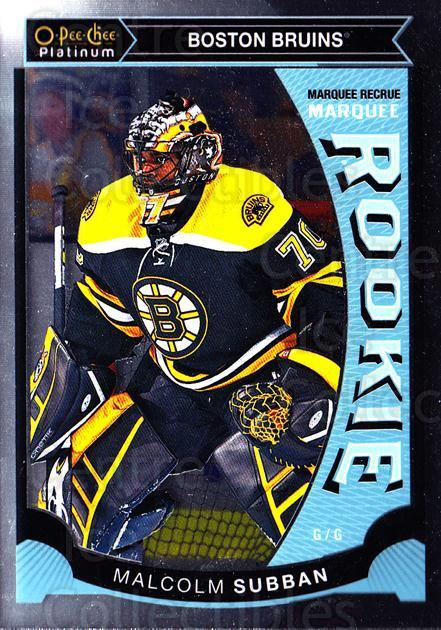 2015-16 O-Pee-Chee Platinum Marquee Rookies #5 Malcolm Subban<br/>8 In Stock - $3.00 each - <a href=https://centericecollectibles.foxycart.com/cart?name=2015-16%20O-Pee-Chee%20Platinum%20Marquee%20Rookies%20%235%20Malcolm%20Subban...&quantity_max=8&price=$3.00&code=671477 class=foxycart> Buy it now! </a>