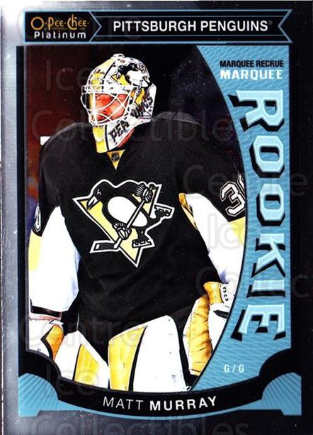 2015-16 O-Pee-Chee Platinum Marquee Rookies #29 Matt Murray<br/>2 In Stock - $10.00 each - <a href=https://centericecollectibles.foxycart.com/cart?name=2015-16%20O-Pee-Chee%20Platinum%20Marquee%20Rookies%20%2329%20Matt%20Murray...&quantity_max=2&price=$10.00&code=671501 class=foxycart> Buy it now! </a>