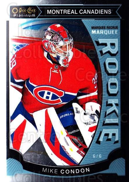 2015-16 O-Pee-Chee Platinum Marquee Rookies #32 Mike Condon<br/>12 In Stock - $3.00 each - <a href=https://centericecollectibles.foxycart.com/cart?name=2015-16%20O-Pee-Chee%20Platinum%20Marquee%20Rookies%20%2332%20Mike%20Condon...&quantity_max=12&price=$3.00&code=671504 class=foxycart> Buy it now! </a>