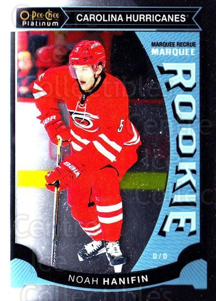 2015-16 O-Pee-Chee Platinum Marquee Rookies #41 Noah Hanifin<br/>15 In Stock - $3.00 each - <a href=https://centericecollectibles.foxycart.com/cart?name=2015-16%20O-Pee-Chee%20Platinum%20Marquee%20Rookies%20%2341%20Noah%20Hanifin...&quantity_max=15&price=$3.00&code=671513 class=foxycart> Buy it now! </a>