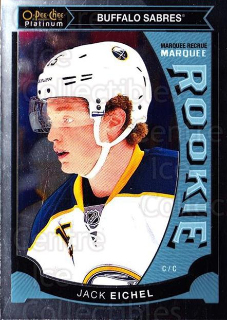 2015-16 O-Pee-Chee Platinum Marquee Rookies #50 Jack Eichel<br/>10 In Stock - $10.00 each - <a href=https://centericecollectibles.foxycart.com/cart?name=2015-16%20O-Pee-Chee%20Platinum%20Marquee%20Rookies%20%2350%20Jack%20Eichel...&quantity_max=10&price=$10.00&code=671522 class=foxycart> Buy it now! </a>