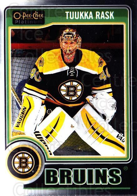 2014-15 O-Pee-Chee Platinum #13 Tuukka Rask<br/>4 In Stock - $2.00 each - <a href=https://centericecollectibles.foxycart.com/cart?name=2014-15%20O-Pee-Chee%20Platinum%20%2313%20Tuukka%20Rask...&quantity_max=4&price=$2.00&code=671535 class=foxycart> Buy it now! </a>