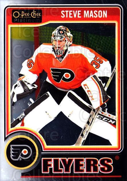 2014-15 O-Pee-Chee Platinum #46 Steve Mason<br/>4 In Stock - $1.00 each - <a href=https://centericecollectibles.foxycart.com/cart?name=2014-15%20O-Pee-Chee%20Platinum%20%2346%20Steve%20Mason...&quantity_max=4&price=$1.00&code=671568 class=foxycart> Buy it now! </a>