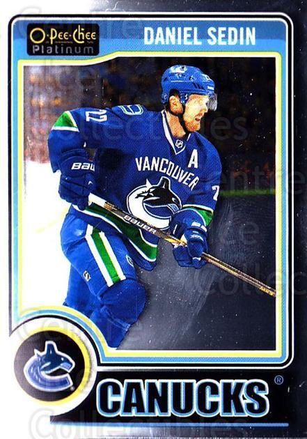 2014-15 O-Pee-Chee Platinum #55 Daniel Sedin<br/>4 In Stock - $1.00 each - <a href=https://centericecollectibles.foxycart.com/cart?name=2014-15%20O-Pee-Chee%20Platinum%20%2355%20Daniel%20Sedin...&quantity_max=4&price=$1.00&code=671577 class=foxycart> Buy it now! </a>