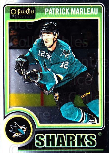 2014-15 O-Pee-Chee Platinum #58 Patrick Marleau<br/>4 In Stock - $1.00 each - <a href=https://centericecollectibles.foxycart.com/cart?name=2014-15%20O-Pee-Chee%20Platinum%20%2358%20Patrick%20Marleau...&quantity_max=4&price=$1.00&code=671580 class=foxycart> Buy it now! </a>