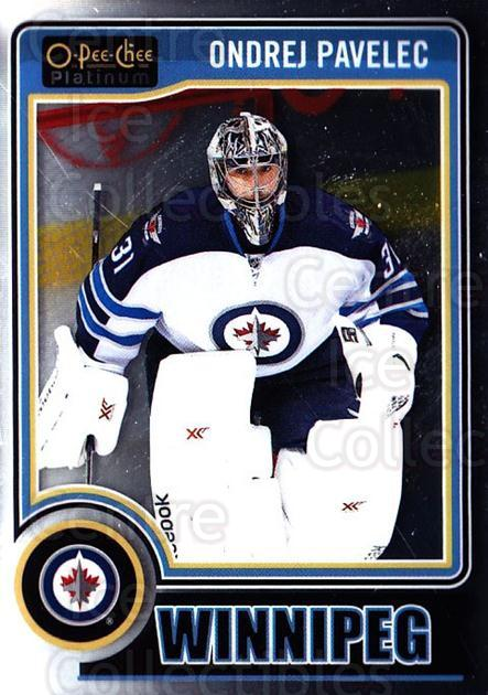 2014-15 O-Pee-Chee Platinum #81 Ondrej Pavelec<br/>5 In Stock - $1.00 each - <a href=https://centericecollectibles.foxycart.com/cart?name=2014-15%20O-Pee-Chee%20Platinum%20%2381%20Ondrej%20Pavelec...&quantity_max=5&price=$1.00&code=671603 class=foxycart> Buy it now! </a>