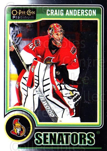 2014-15 O-Pee-Chee Platinum #118 Craig Anderson<br/>5 In Stock - $1.00 each - <a href=https://centericecollectibles.foxycart.com/cart?name=2014-15%20O-Pee-Chee%20Platinum%20%23118%20Craig%20Anderson...&quantity_max=5&price=$1.00&code=671640 class=foxycart> Buy it now! </a>