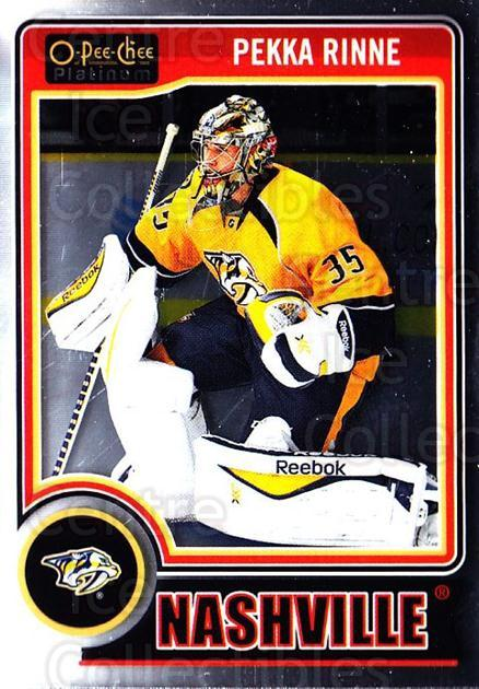 2014-15 O-Pee-Chee Platinum #121 Pekka Rinne<br/>3 In Stock - $1.00 each - <a href=https://centericecollectibles.foxycart.com/cart?name=2014-15%20O-Pee-Chee%20Platinum%20%23121%20Pekka%20Rinne...&quantity_max=3&price=$1.00&code=671643 class=foxycart> Buy it now! </a>