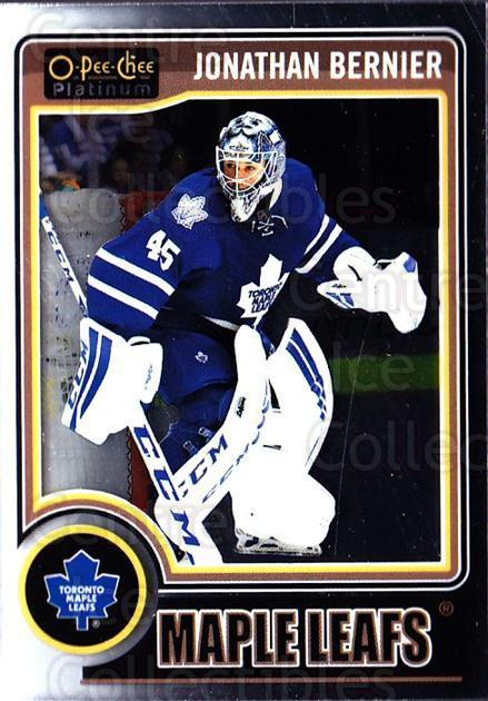 2014-15 O-Pee-Chee Platinum #124 Jonathan Bernier<br/>3 In Stock - $1.00 each - <a href=https://centericecollectibles.foxycart.com/cart?name=2014-15%20O-Pee-Chee%20Platinum%20%23124%20Jonathan%20Bernie...&quantity_max=3&price=$1.00&code=671646 class=foxycart> Buy it now! </a>