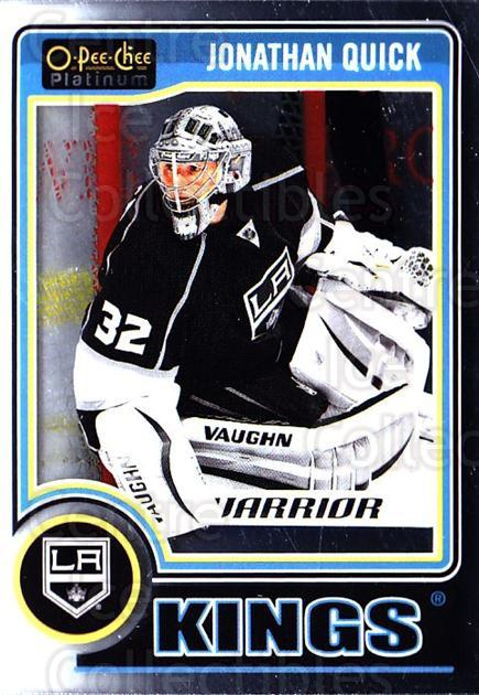 2014-15 O-Pee-Chee Platinum #130 Jonathan Quick<br/>4 In Stock - $1.00 each - <a href=https://centericecollectibles.foxycart.com/cart?name=2014-15%20O-Pee-Chee%20Platinum%20%23130%20Jonathan%20Quick...&quantity_max=4&price=$1.00&code=671652 class=foxycart> Buy it now! </a>