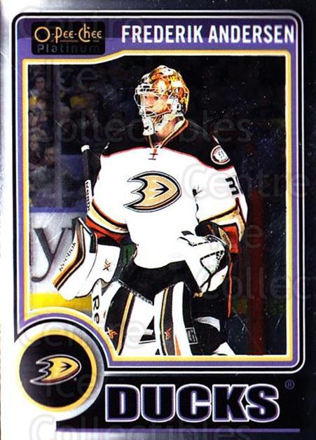 2014-15 O-Pee-Chee Platinum #135 Frederik Andersen<br/>3 In Stock - $1.00 each - <a href=https://centericecollectibles.foxycart.com/cart?name=2014-15%20O-Pee-Chee%20Platinum%20%23135%20Frederik%20Anders...&quantity_max=3&price=$1.00&code=671657 class=foxycart> Buy it now! </a>
