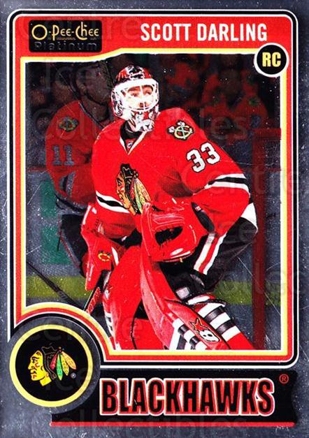 2014-15 O-Pee-Chee Platinum #151 Scott Darling<br/>5 In Stock - $3.00 each - <a href=https://centericecollectibles.foxycart.com/cart?name=2014-15%20O-Pee-Chee%20Platinum%20%23151%20Scott%20Darling...&quantity_max=5&price=$3.00&code=671673 class=foxycart> Buy it now! </a>