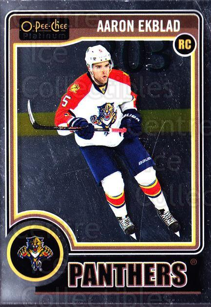 2014-15 O-Pee-Chee Platinum #158 Aaron Ekblad<br/>5 In Stock - $5.00 each - <a href=https://centericecollectibles.foxycart.com/cart?name=2014-15%20O-Pee-Chee%20Platinum%20%23158%20Aaron%20Ekblad...&quantity_max=5&price=$5.00&code=671680 class=foxycart> Buy it now! </a>