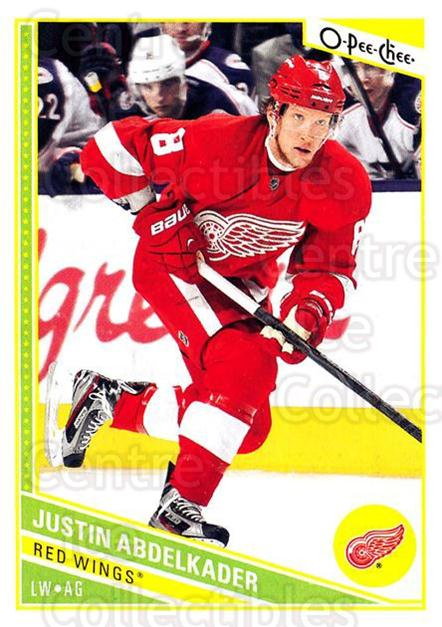 2013-14 O-Pee-Chee #108 Justin Abdelkader<br/>6 In Stock - $1.00 each - <a href=https://centericecollectibles.foxycart.com/cart?name=2013-14%20O-Pee-Chee%20%23108%20Justin%20Abdelkad...&quantity_max=6&price=$1.00&code=671879 class=foxycart> Buy it now! </a>