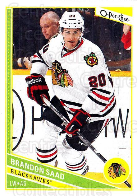 2013-14 O-Pee-Chee #154 Brandon Saad<br/>7 In Stock - $1.00 each - <a href=https://centericecollectibles.foxycart.com/cart?name=2013-14%20O-Pee-Chee%20%23154%20Brandon%20Saad...&quantity_max=7&price=$1.00&code=671925 class=foxycart> Buy it now! </a>
