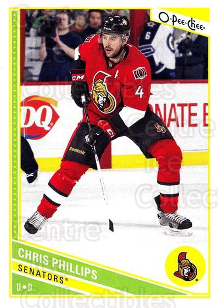 2013-14 O-Pee-Chee #189 Chris Phillips<br/>7 In Stock - $1.00 each - <a href=https://centericecollectibles.foxycart.com/cart?name=2013-14%20O-Pee-Chee%20%23189%20Chris%20Phillips...&quantity_max=7&price=$1.00&code=671960 class=foxycart> Buy it now! </a>