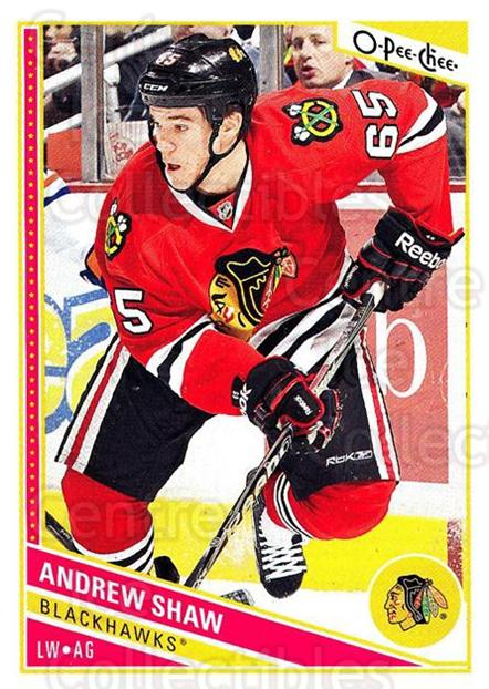 2013-14 O-Pee-Chee #223 Andrew Shaw<br/>7 In Stock - $1.00 each - <a href=https://centericecollectibles.foxycart.com/cart?name=2013-14%20O-Pee-Chee%20%23223%20Andrew%20Shaw...&quantity_max=7&price=$1.00&code=671994 class=foxycart> Buy it now! </a>