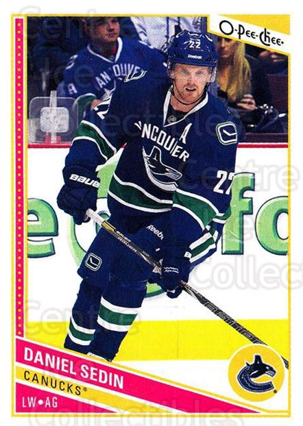 2013-14 O-Pee-Chee #267 Daniel Sedin<br/>8 In Stock - $1.00 each - <a href=https://centericecollectibles.foxycart.com/cart?name=2013-14%20O-Pee-Chee%20%23267%20Daniel%20Sedin...&quantity_max=8&price=$1.00&code=672038 class=foxycart> Buy it now! </a>