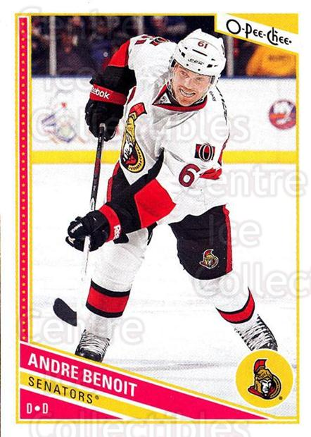 2013-14 O-Pee-Chee #273 Andre Benoit<br/>7 In Stock - $1.00 each - <a href=https://centericecollectibles.foxycart.com/cart?name=2013-14%20O-Pee-Chee%20%23273%20Andre%20Benoit...&quantity_max=7&price=$1.00&code=672044 class=foxycart> Buy it now! </a>