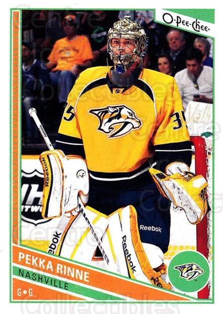 2013-14 O-Pee-Chee #330 Pekka Rinne<br/>8 In Stock - $1.00 each - <a href=https://centericecollectibles.foxycart.com/cart?name=2013-14%20O-Pee-Chee%20%23330%20Pekka%20Rinne...&quantity_max=8&price=$1.00&code=672101 class=foxycart> Buy it now! </a>