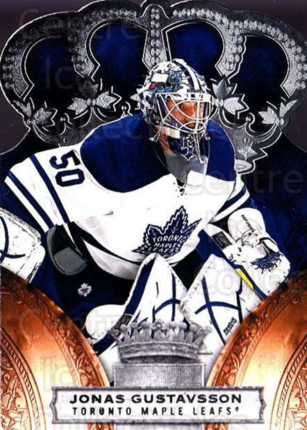 2010-11 Crown Royale #91 Jonas Gustavsson<br/>1 In Stock - $1.00 each - <a href=https://centericecollectibles.foxycart.com/cart?name=2010-11%20Crown%20Royale%20%2391%20Jonas%20Gustavsso...&quantity_max=1&price=$1.00&code=672504 class=foxycart> Buy it now! </a>