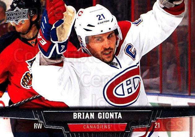 2013-14 Upper Deck #15 Brian Gionta<br/>18 In Stock - $1.00 each - <a href=https://centericecollectibles.foxycart.com/cart?name=2013-14%20Upper%20Deck%20%2315%20Brian%20Gionta...&quantity_max=18&price=$1.00&code=672603 class=foxycart> Buy it now! </a>