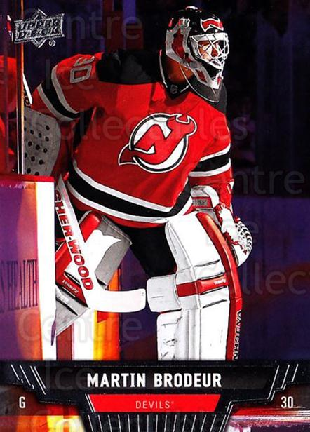 2013-14 Upper Deck #34 Martin Brodeur<br/>18 In Stock - $2.00 each - <a href=https://centericecollectibles.foxycart.com/cart?name=2013-14%20Upper%20Deck%20%2334%20Martin%20Brodeur...&quantity_max=18&price=$2.00&code=672622 class=foxycart> Buy it now! </a>