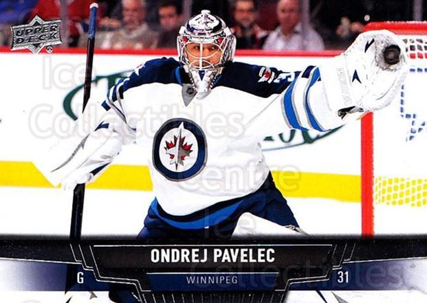 2013-14 Upper Deck #145 Ondrej Pavelec<br/>20 In Stock - $1.00 each - <a href=https://centericecollectibles.foxycart.com/cart?name=2013-14%20Upper%20Deck%20%23145%20Ondrej%20Pavelec...&quantity_max=20&price=$1.00&code=672733 class=foxycart> Buy it now! </a>