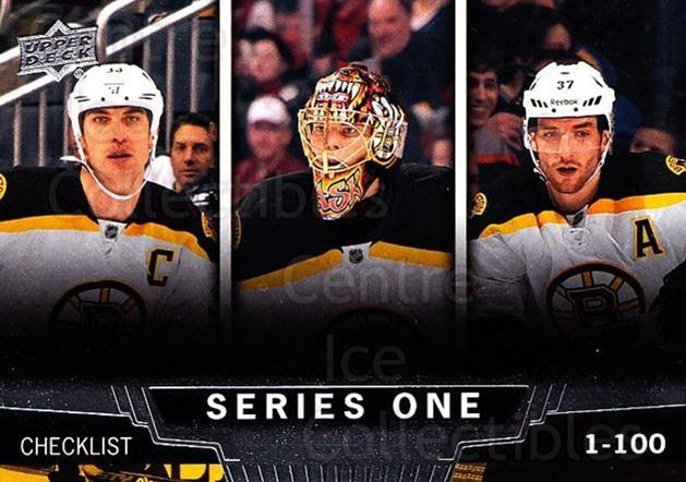 2013-14 Upper Deck #199 Zdeno Chara, Tuukka Rask, Patrice Bergeron, Checklist<br/>18 In Stock - $2.00 each - <a href=https://centericecollectibles.foxycart.com/cart?name=2013-14%20Upper%20Deck%20%23199%20Zdeno%20Chara,%20Tu...&quantity_max=18&price=$2.00&code=672787 class=foxycart> Buy it now! </a>