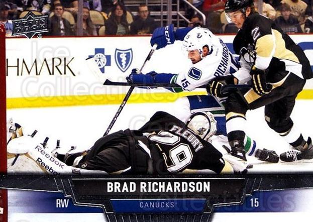 2013-14 Upper Deck #253 Brad Richardson<br/>12 In Stock - $1.00 each - <a href=https://centericecollectibles.foxycart.com/cart?name=2013-14%20Upper%20Deck%20%23253%20Brad%20Richardson...&quantity_max=12&price=$1.00&code=672841 class=foxycart> Buy it now! </a>