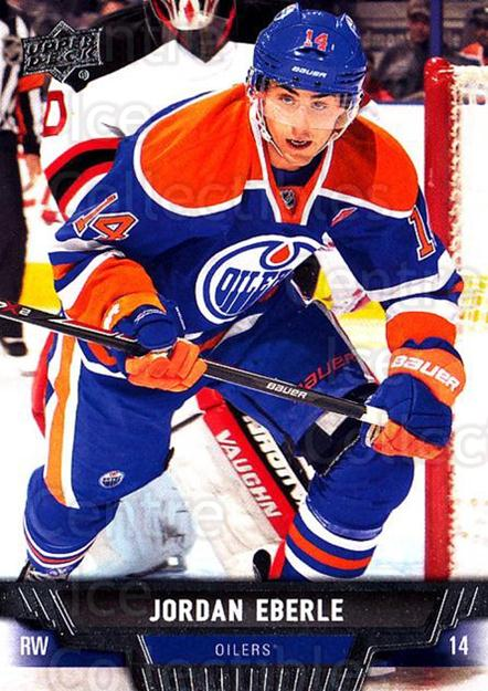 2013-14 Upper Deck #285 Jordan Eberle<br/>12 In Stock - $1.00 each - <a href=https://centericecollectibles.foxycart.com/cart?name=2013-14%20Upper%20Deck%20%23285%20Jordan%20Eberle...&quantity_max=12&price=$1.00&code=672873 class=foxycart> Buy it now! </a>