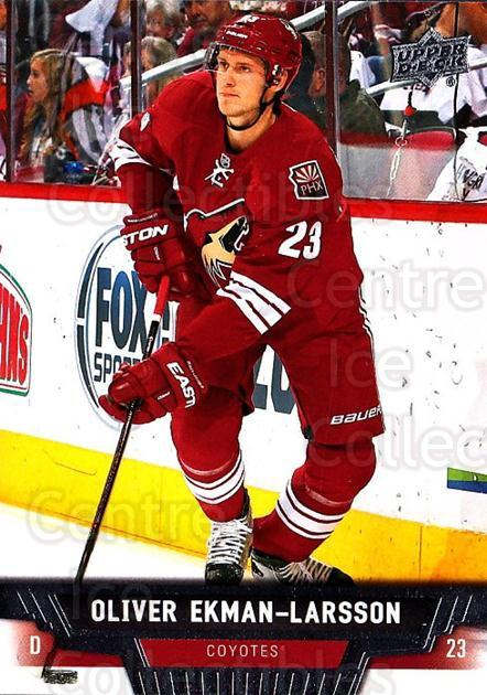 2013-14 Upper Deck #290 Oliver Ekman-Larsson<br/>12 In Stock - $1.00 each - <a href=https://centericecollectibles.foxycart.com/cart?name=2013-14%20Upper%20Deck%20%23290%20Oliver%20Ekman-La...&quantity_max=12&price=$1.00&code=672878 class=foxycart> Buy it now! </a>