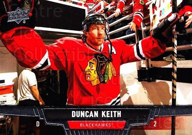2013-14 Upper Deck #334 Duncan Keith<br/>11 In Stock - $2.00 each - <a href=https://centericecollectibles.foxycart.com/cart?name=2013-14%20Upper%20Deck%20%23334%20Duncan%20Keith...&quantity_max=11&price=$2.00&code=672922 class=foxycart> Buy it now! </a>